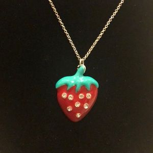 Sterling Silver Strawberry Pendant🍓